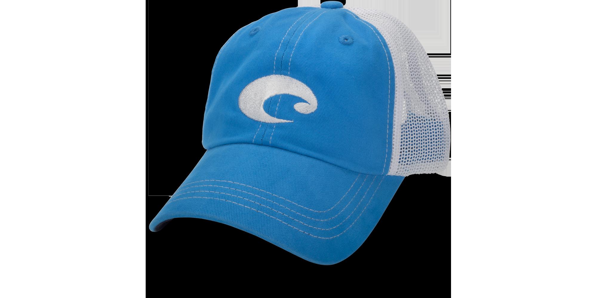 HOT HOT BRAND NEW COSTA DEL MAR MESH LOGO ADJUSTABLE CAP HAT SLATE BLUE STONE