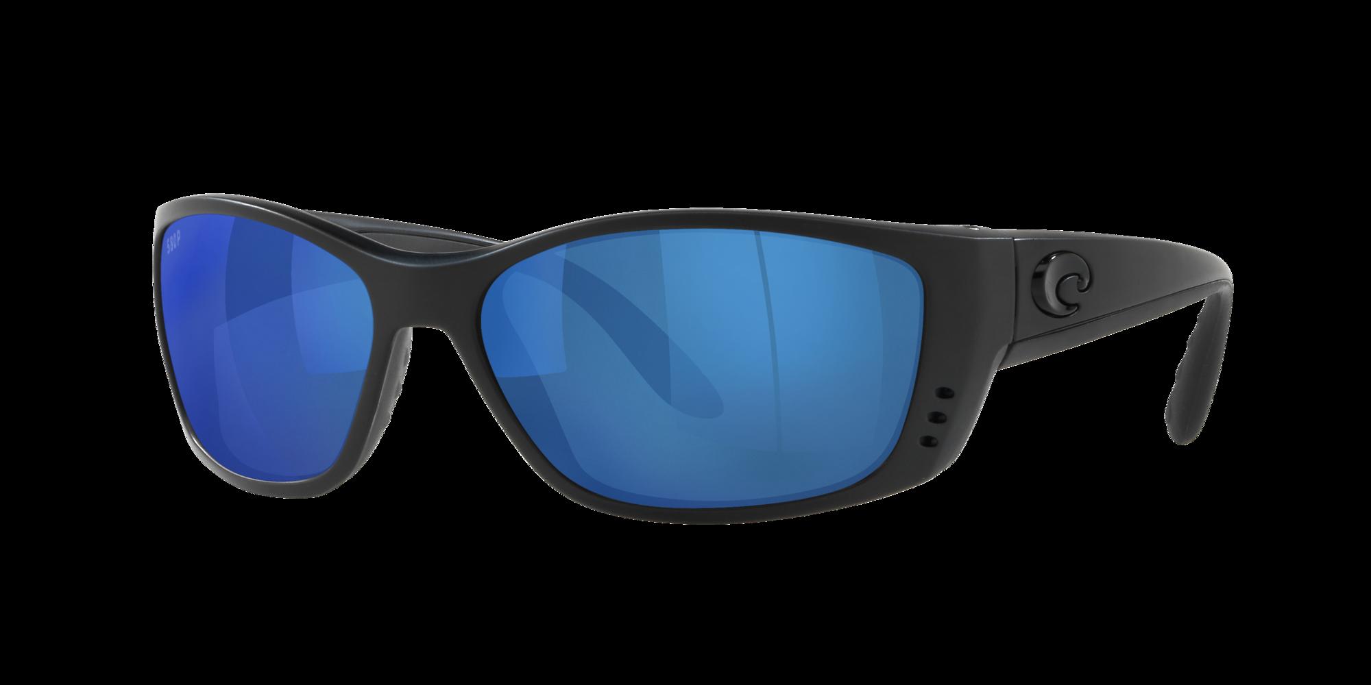 New Costa Del Mar Fishing Sunglasses FISCH Blackout Gray 580P POLARIZED