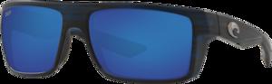 Matte Black Teak - Blue Mirror