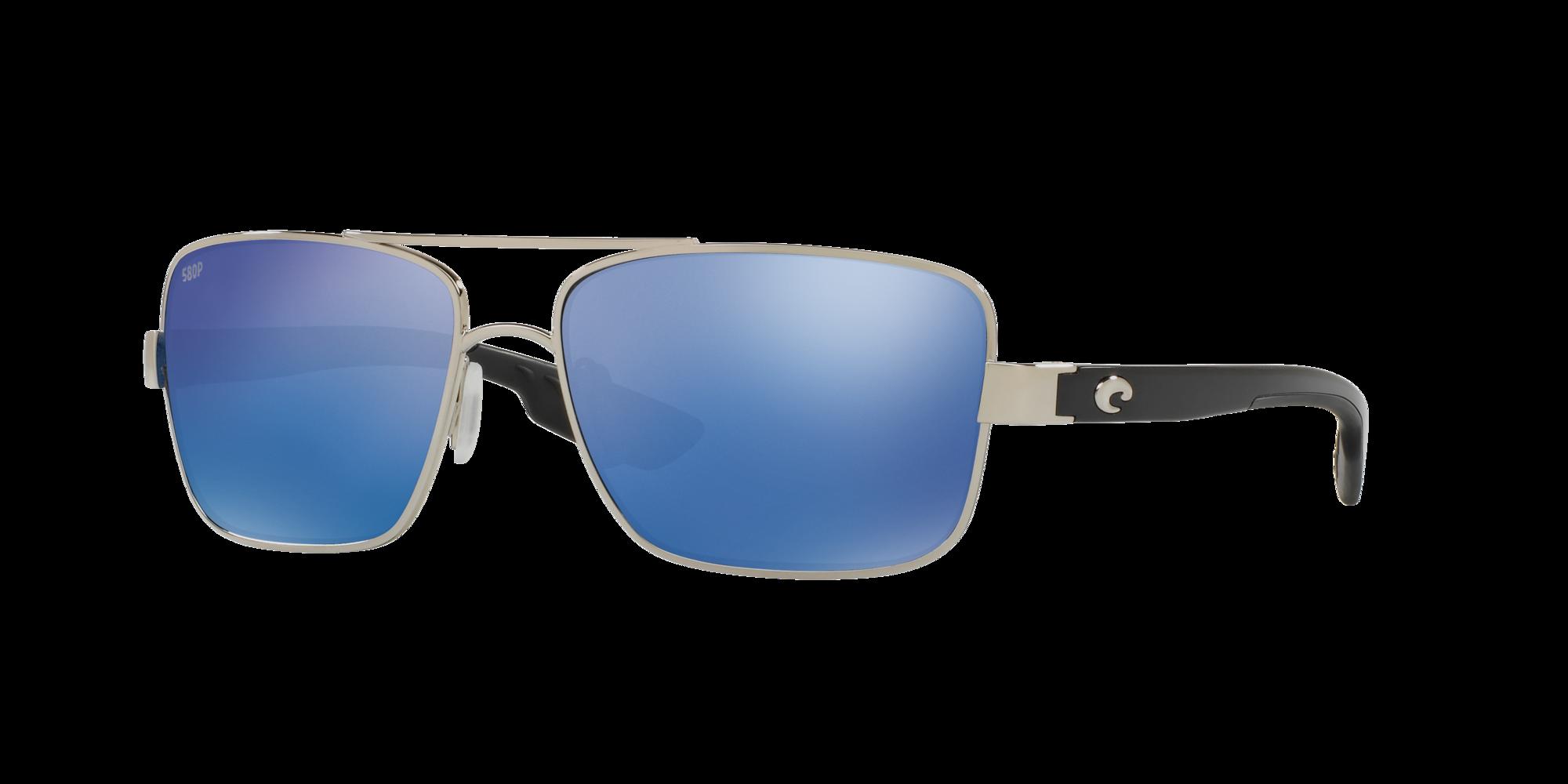 New Costa North Turn Sunglasses 580P Copp Silver Mir Lens Rose Gold Frames NIB