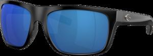 Matte Black - Blue Mirror