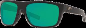 Matte Black - Green Mirror