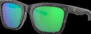 Matte Gray Tortoise - Green Mirror