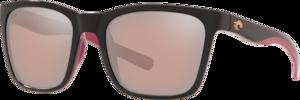 Shiny Black/Crystal/Fuchsia - Copper Silver Mirror