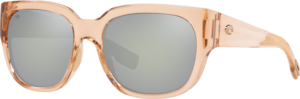Shiny Blonde Crystal - Grey Silver Mirror
