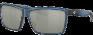 Matte Atlantic Blue - Grey Silver Mirror