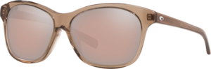 Shiny Taupe Crystal - Copper Silver Mirror