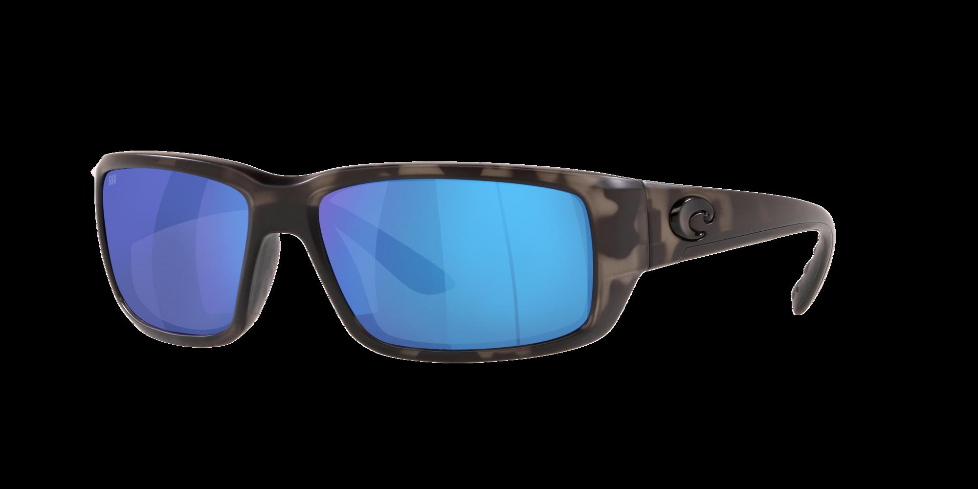 Costa Del Mar FANTAIL Ocearch Matt Tiger Shark //Polarized Blue Mirror Glass 580G