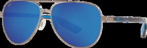 Brushed Gunmetal - Blue Mirror