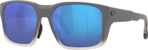Matte Fog Gray - Blue Mirror